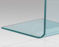 Gehärtetes gebogenes Glas R20